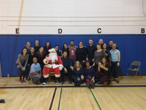 NYDBC Holiday Event Volunteers Santa